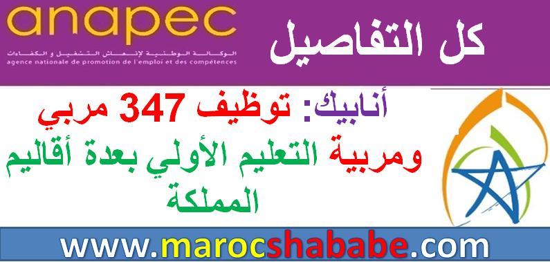 أنابيك: توظيف 347 مربي ومربية التعليم الأولي بعدة أقاليم المملكة