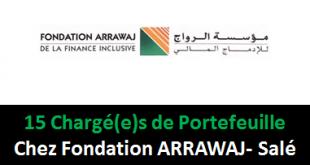Chargé(e)s de Portefeuille Chez Fondation ARRAWAJ- Salé