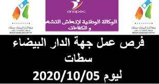 فرص عمل جهة الدار البيضاء سطات